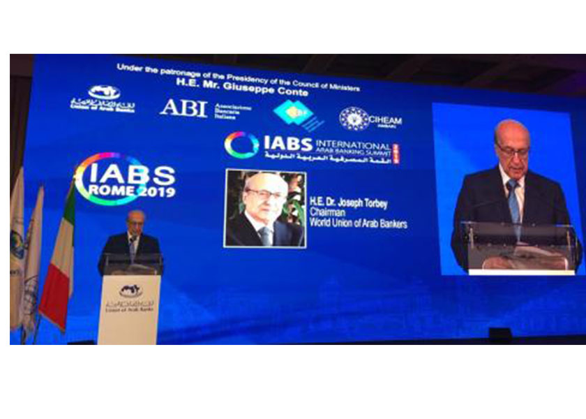 """The International Arab Banking Summit IABS 2019 Euro - Arab Mediterranean Dialogues for a Better Economic Zone June 25, 2019, Rome – Italy"